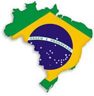 Brazil Flag Shaped like Country