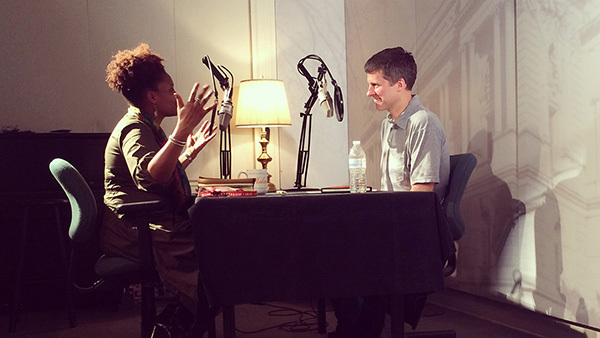 U.S. Poet Laureate Tracy K. Smith speaks with Rob Casper, head of the Poetry and Literature Center