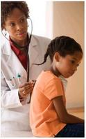 Child examination by healthcare provider