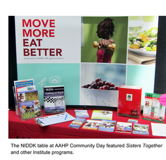 Sisters Together exhibit table