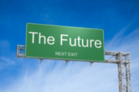 Street sign that says 'Future'