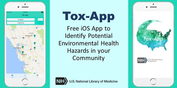 Tox-App: Free iOS App to Identify Potential Environmental Health Hazards in your Community.