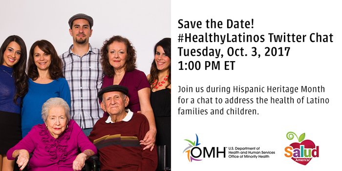 #HealthyLatinos Twitter Chat, Tuesday, Oct 3, 1 pm ET