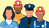 Drawn image of disaster responders