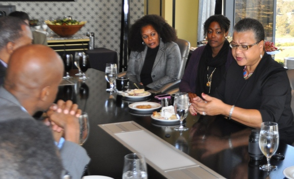 Photo: SBA Deputy Administrator at conference table with NAMC members.
