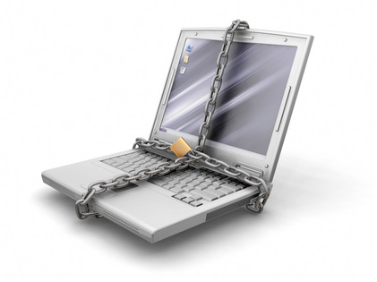 Laptop in Chains