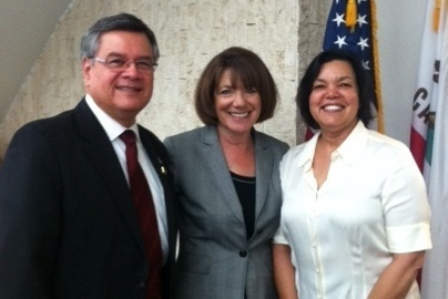 Photo: Ruben Garcia, Congresswoman Susan Davis and Julie Talley