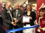 Antonio Paez of Mt Hood CC SBDC at Grand Opening of new Gresham Location