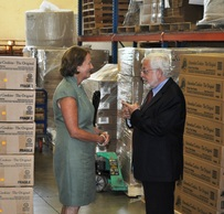 SBA Administrator Mills with Yuval Zaliouk, co-owner of YZ Enterprises