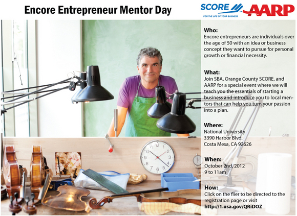 Event Flier for 50+ Entrepreneurs