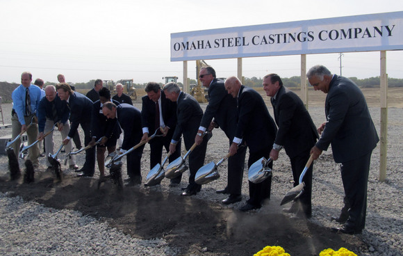 Groundbreaking at Omaha Steel Castings