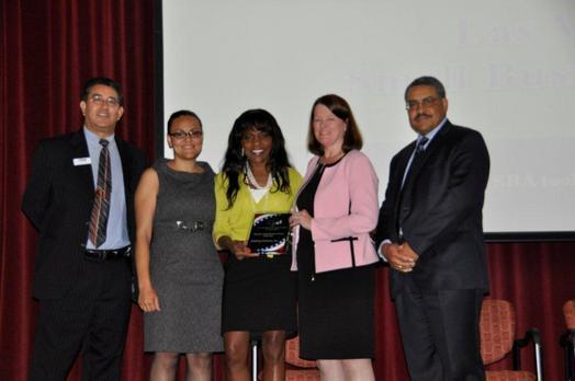 RA Echols presenting award