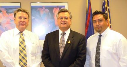 Photo: Raymond Weamer, Ruben Garcia and Tomas Valles