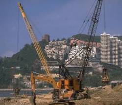 Image of contruction equipment at work