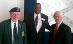 Calvin Davis with Jack London and Gary Martin at Silent Wings Veterans Event on 11-11-12