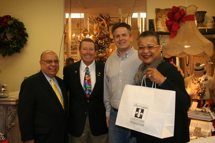 District Director, Wilfredo J. Gonzalez, Councilman Jim Love, Design Additions Owner, Chris Hardison, and Deputy Administrator Marie Johns
