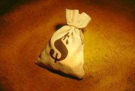 Image of a bag with a money symbol
