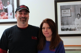 Tim and Heidi Sanders, owners of Sanders Meat Market in Ballston Spa, NY.