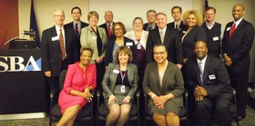 Marie Johns with SBA St. Louis staff and resource partners