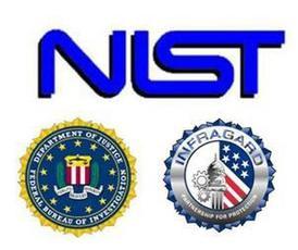 NIST, FBI, Infragard logos