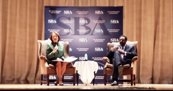 STL-SBA Administrator Karen Mills and Dave Steward of World Wide Technology at National Small Business Week - St. Louis