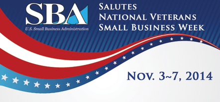 National Veterans Small Business Week November third to the seventh