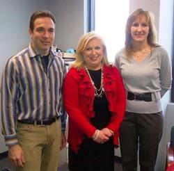 Robert and Sherri Basnett with Regional Administrator Yolanda Olivarez