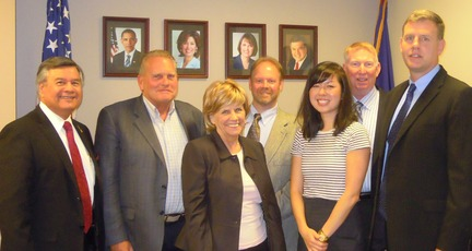 Group photo: Ruben Garcia, Mike Sovacool, Maria Hughes, Brian Goodrow, Selah Mun, Joe Stallings, and Bruce Purdy