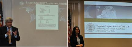 Photos: Victor Castillo and Sandra Donzella during their presentations.