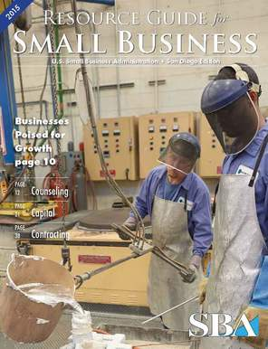 Image: 2015 SBA Resource Guide Cover Page