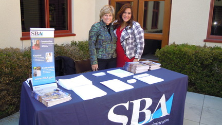 Photo: Maria Hughes and Francine Maigue at the SBA exhibit table