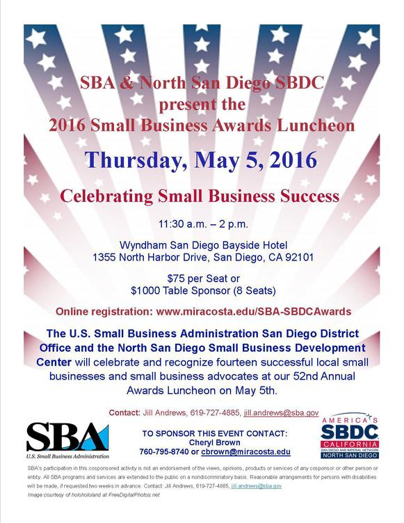 Image: Flyer for Small Business Awards Luncheon
