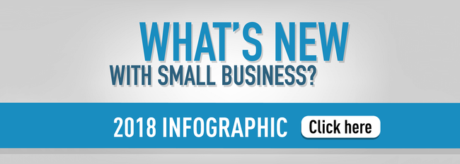 What's New With Small Business 2018 Infographic with link