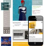 Screenshot of the new Portrait Gallery website