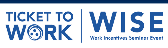 Ticket to Work WISE stacked brand header