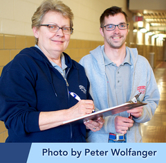 Photo of Walter, a Ticket to Work Success Story, with his work supervisor