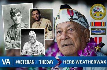 Veteran of the Day Herb Weatherwax