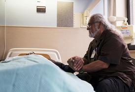 Comforting veteran