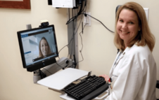 Doctor using VA Video Connect