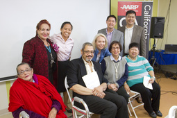Nora Super with Diverse Elders in Los Angeles