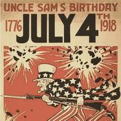 Uncle Sam 4th of July 1918 poster
