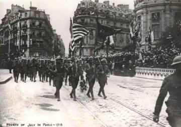 Marines in Paris July 4, 1918