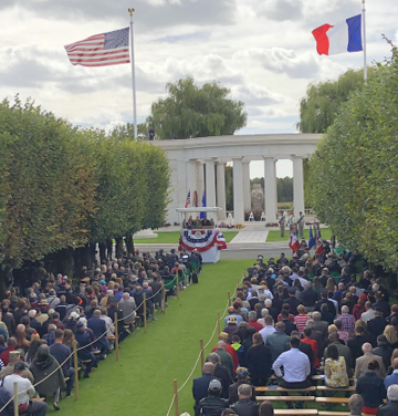 Ceremony at St. Mihiel American Cemetery