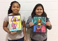 Bush Hill students drew the Mona Lisa
