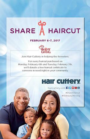 Hair cuttery ad for Share a haircut