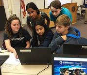 Kilmer CyberPatriot team at work