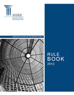 MSRB Rule Book