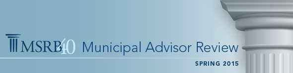 Municipal Advisor Review - Spring 2015