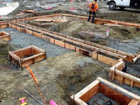 Seaway Transit Center Buildings Begin to Emerge on site