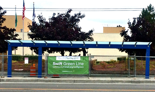 Swift Green Line Coming Soon Banner at Station near KPOB